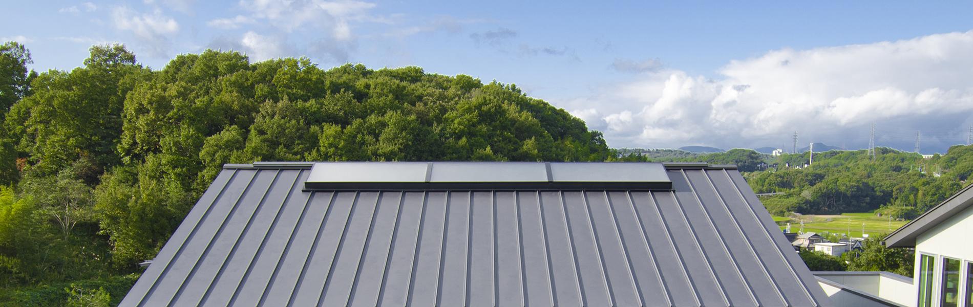 びおソーラーの屋根